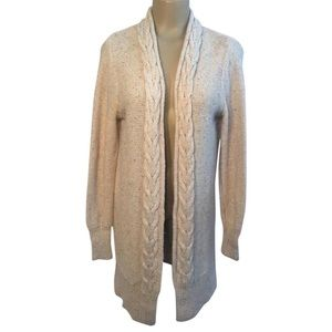 Banana Republic Open Front Cable Knit Cardigan